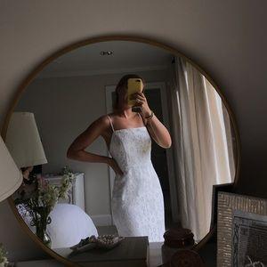 X by NBD white lace dress